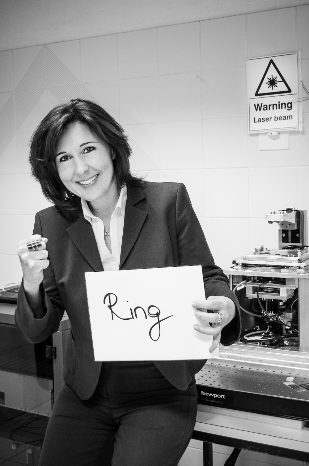 "Nicoletta entered ""the ring"", a conference room set up with real boxing gloves, with no intention to build a firm, rather to sell her technology. Two hours later, leaving the ""ring"", she was an entrepreneur. Photo by Giacomo Cattaneo."