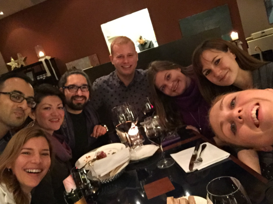 Photo: Melanie, Dhruv, Marina, Daniel, Martin, Sofia, Anna and Helen, 27                         November 2015