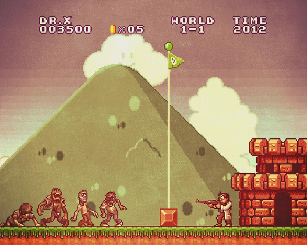 Super Mario x Metal Slug mashup