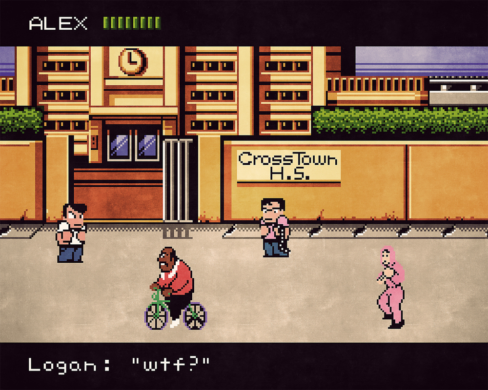 River City Ransom x Mike Tyson's Punch-Out mashup