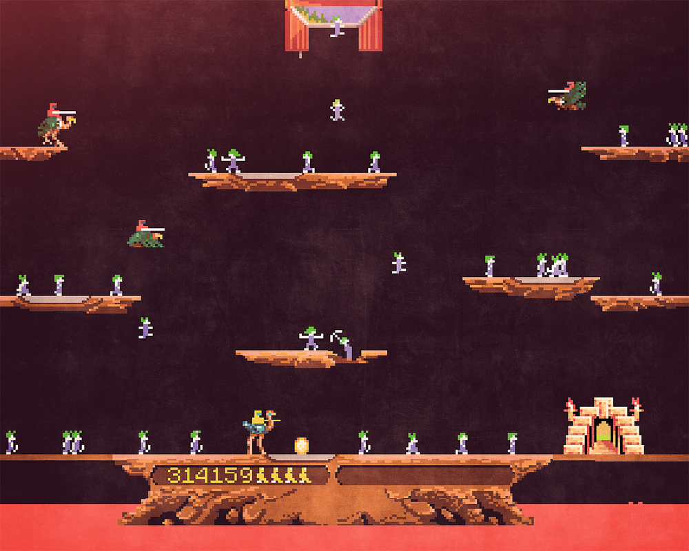 Joust x Lemmings mashup