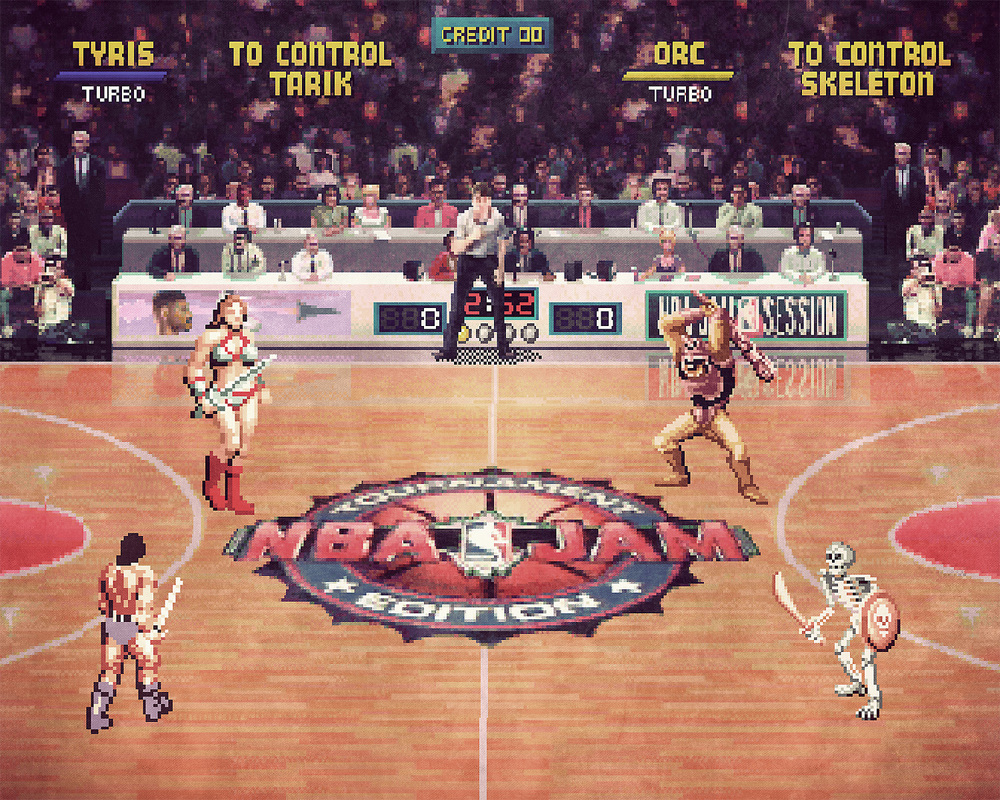 NBA Jam (Tournament Edition) x Golden Axe mashup