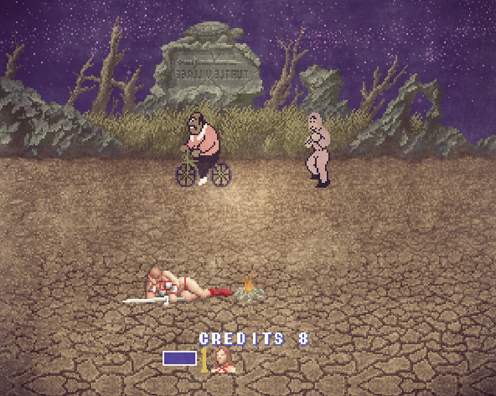 Golden Axe x Mike Tyson's Punch Out mashup