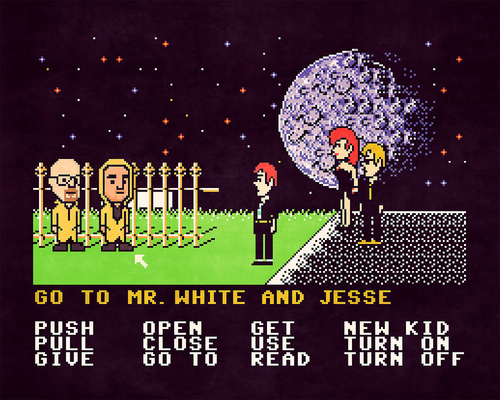 Breaking Bad x Maniac Mansion mashup