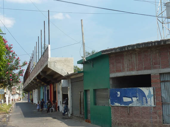 Outside of the Estadio Jorge Calero Suarez Stadium