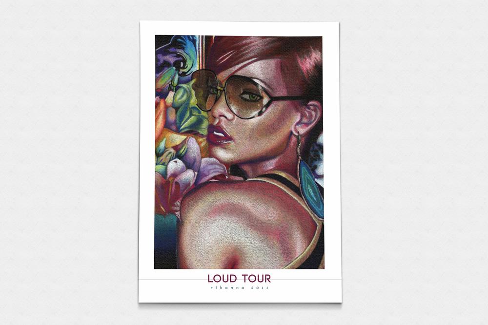 Loud Tour Poster, Chelsea Erdner