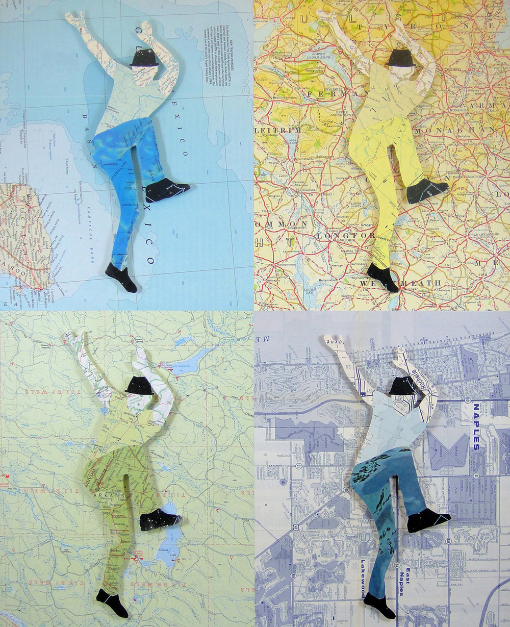 Collage using old maps: Liberty (2015)