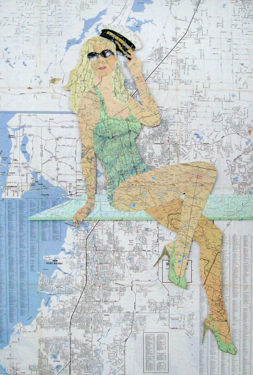 Collage using old maps: Mississippi (2015)
