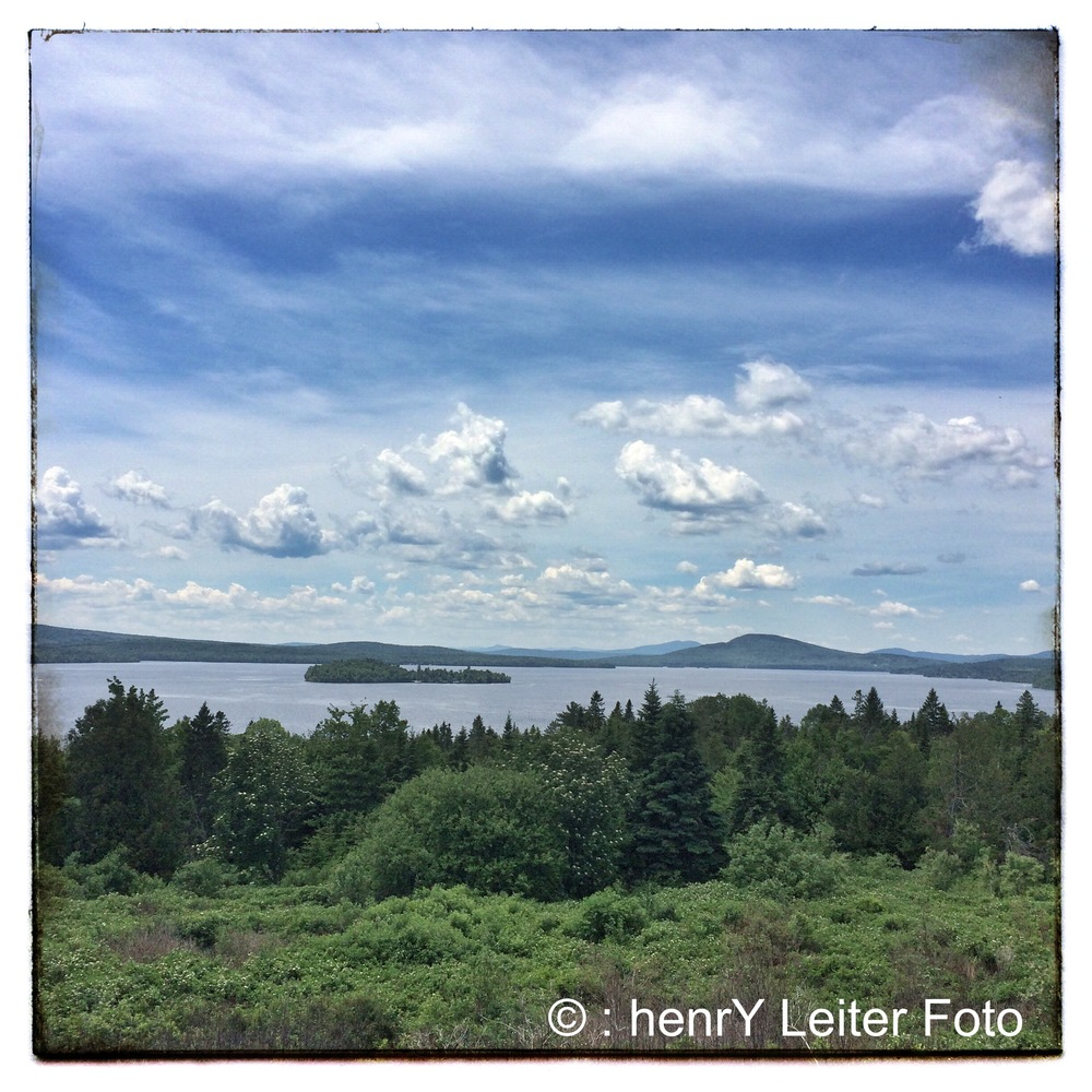 Rangeley Lake from the scenic overlook.