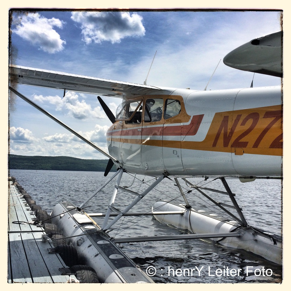 Keith Deschambeault's Seaplane parked at the dock.