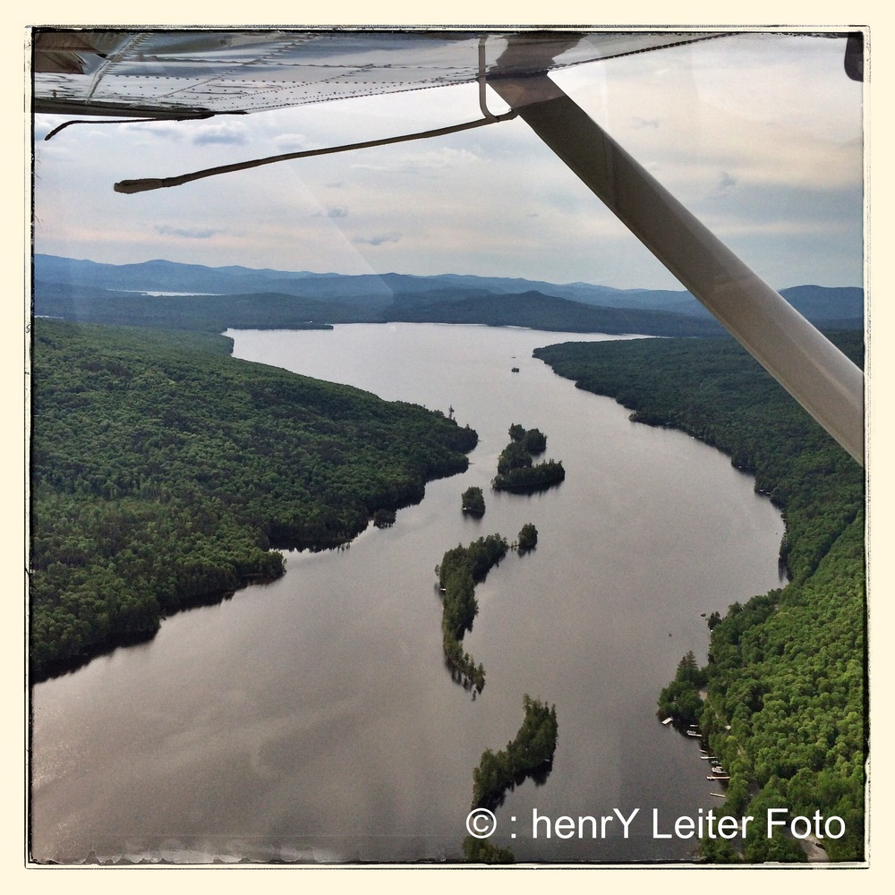 View from the Seaplane of the Rangeley Lakes Region.