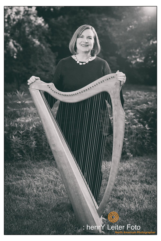 Kate standing with her Harp | Pataskala, Ohio