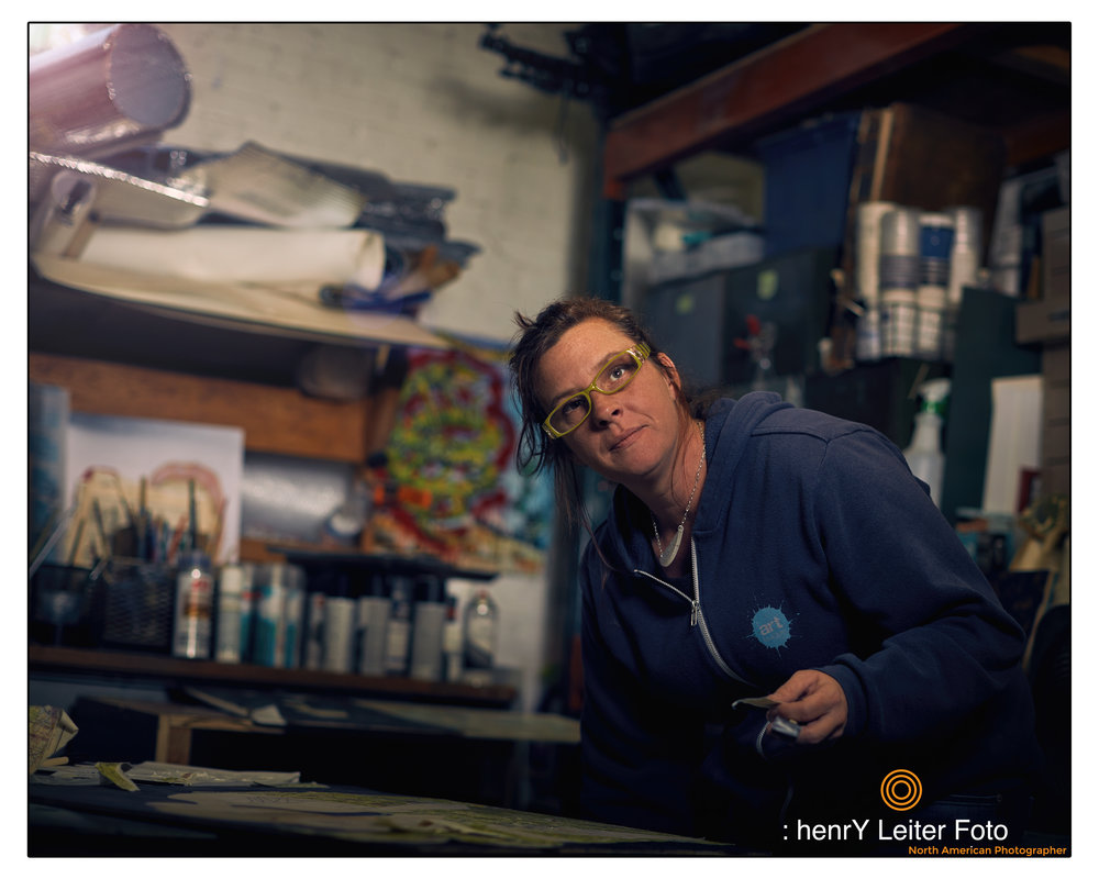 Portrait of the artist Kate Morgan by photographer henrY Leiter