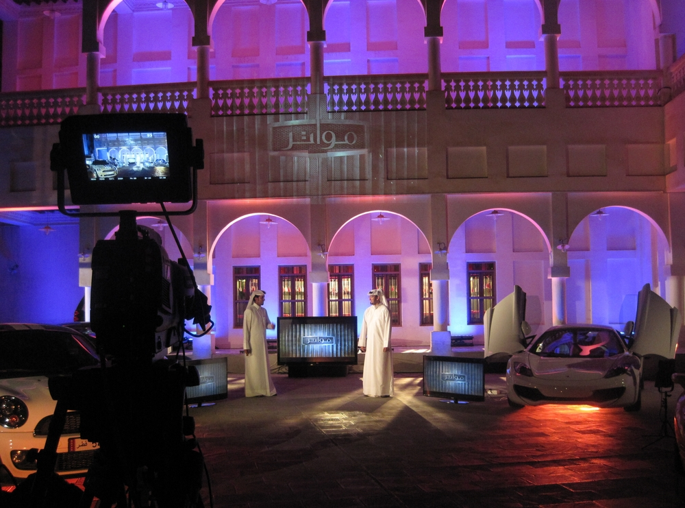 Filming a car magazine in Doha, Qatar