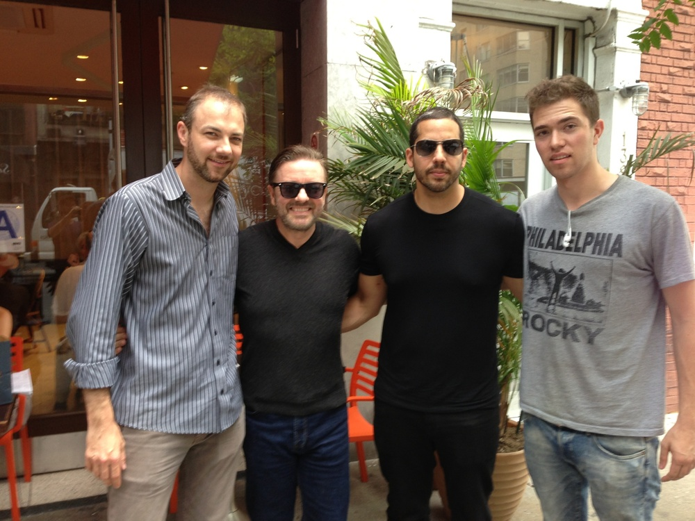 Ricky Gervais and David Blaine