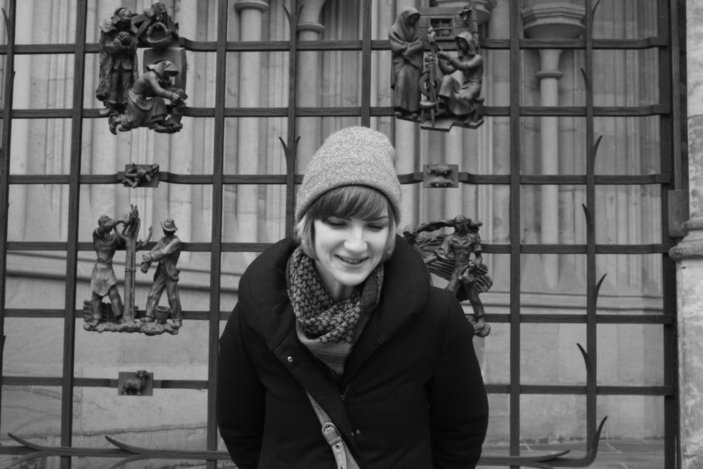 Exploring Prague Castle.