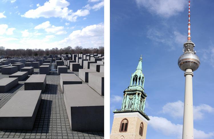 Holocaust Memorial, Berlin                                         Old meets new in Berlin.