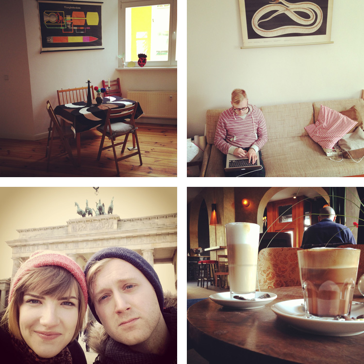 Top: Our beautiful apartment in Berlin. Bottom