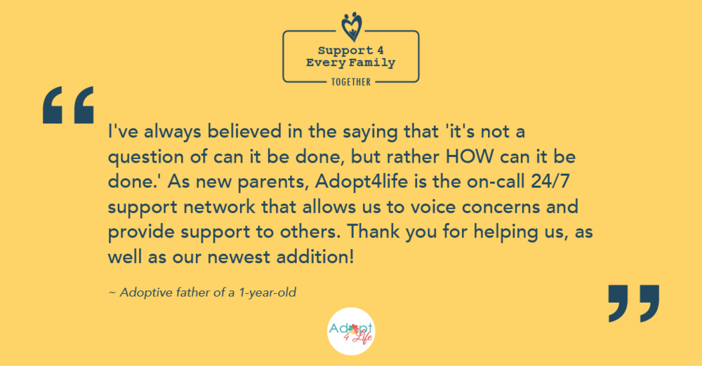 ~ Adoptive father of a 1-year-old