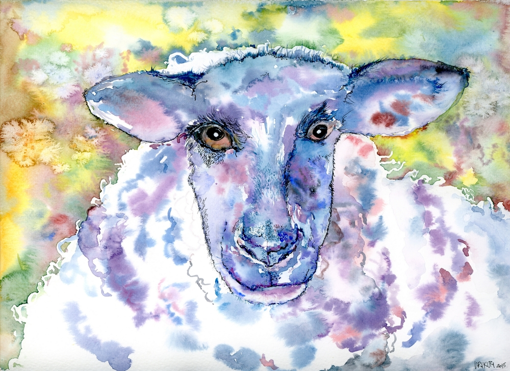 UriKuri Sheepie Rambo (24 x 32 cm, watercolour, 2015).