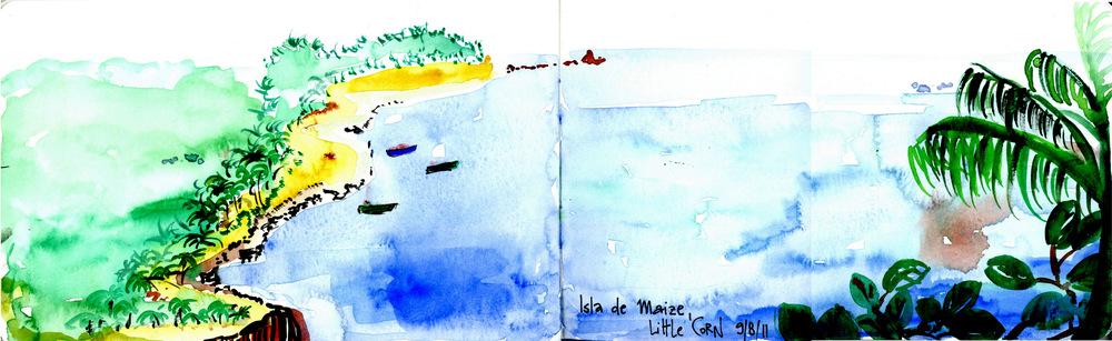Isla de maize (Little Corn Island), Nicaragua.