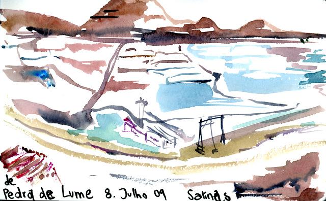 Pedra de lume, Salinas. Ilha de Sal.