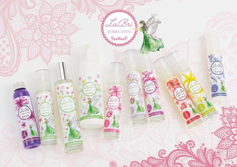 Celotna linija butične kozmetike  LaBri Vilinska Lepota  / Whole collection of LaBri Fairy Beauty boutique cosmetic.
