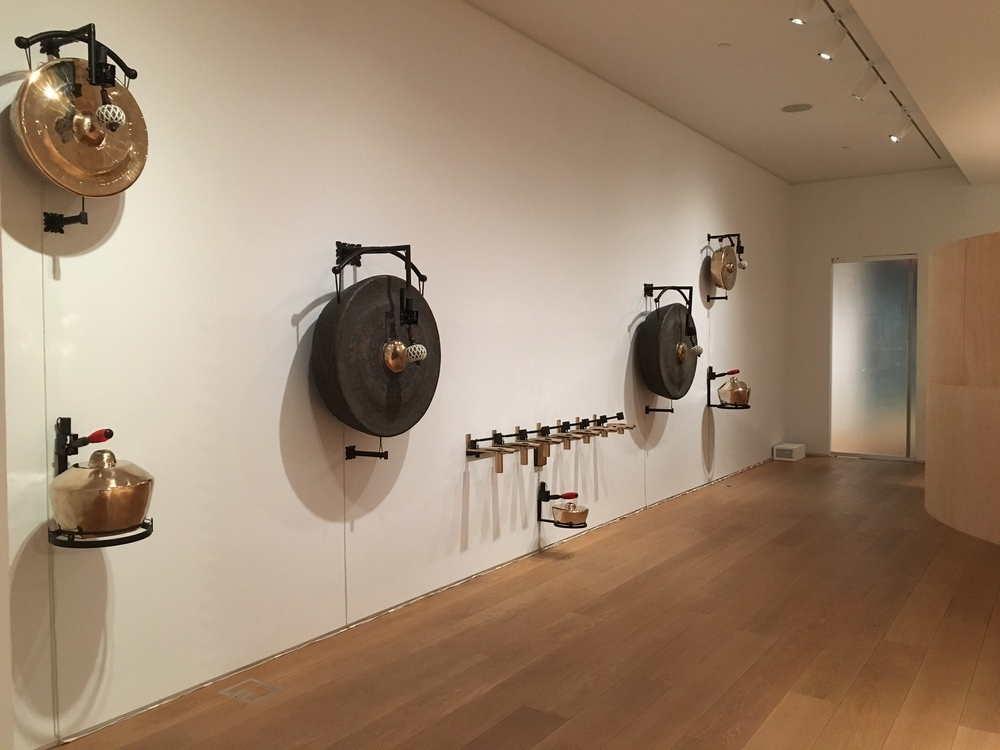 Energy Scaffolds and Information Architecture, The Drawing Center, NYC. Gamelan instruments by Aaron Taylor Kuffner