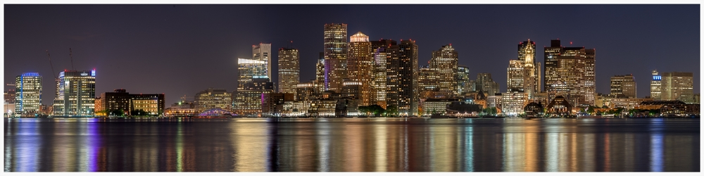 Boston Nighttime Skyline - 08.07.14