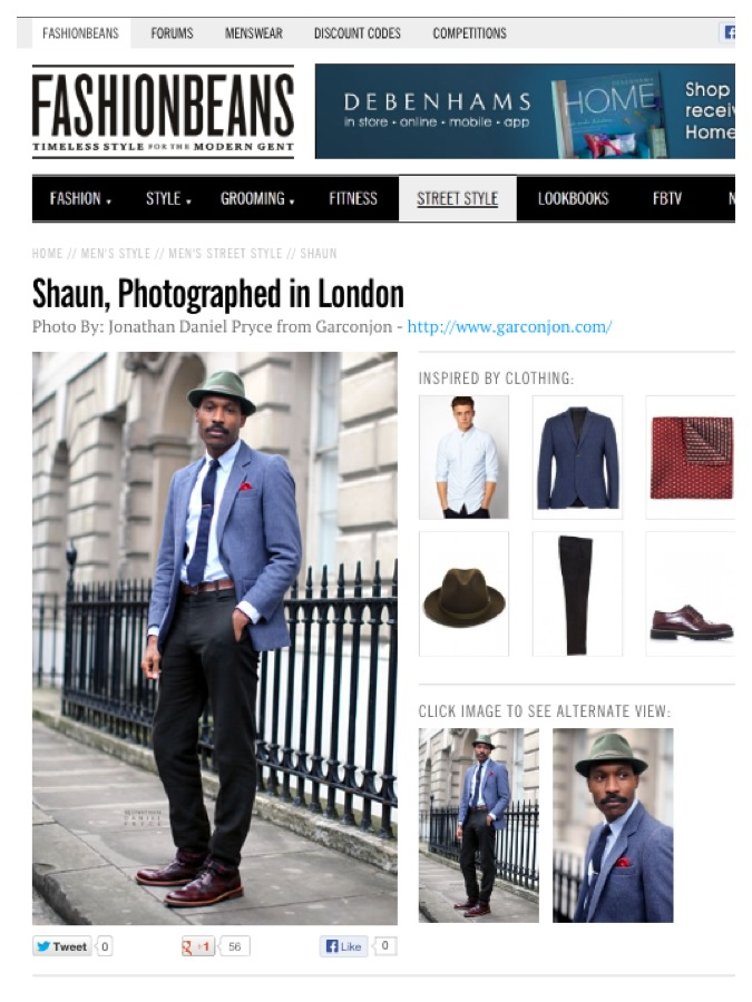 Shaun Gordon on FashionBeans.com