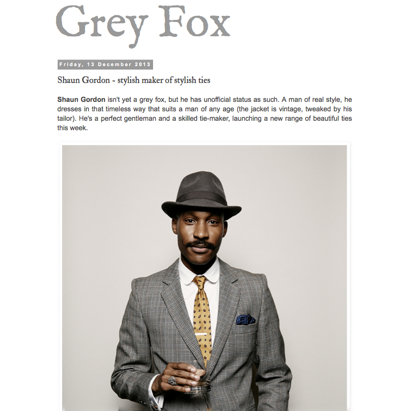 Grey Fox Blog Features Shaun Gordon