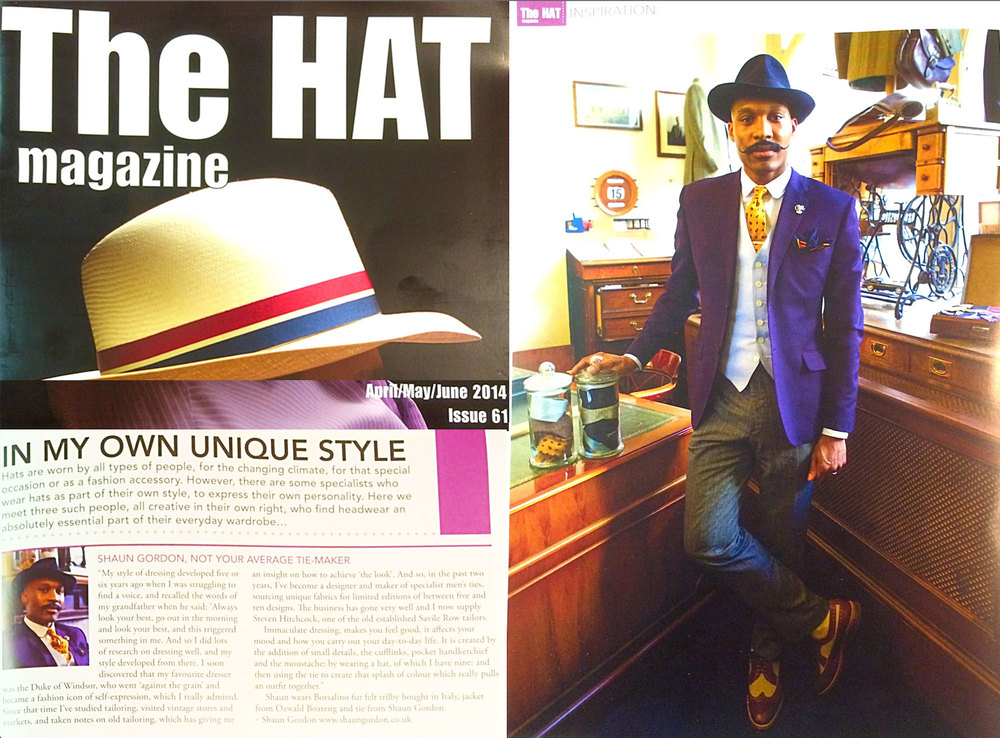 Shaun Gordon Features In The Hat Magazine