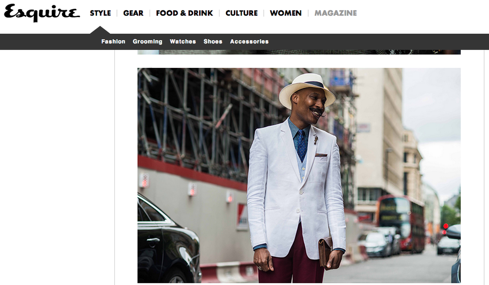 Shaun Gordon in Esquire During LCM.