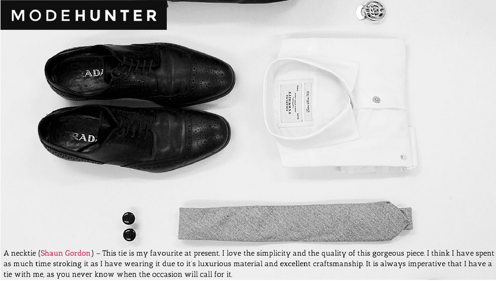 ModeHunter speak about traveling light for Pitti Uomo with his favourite Shaun Gordon tie