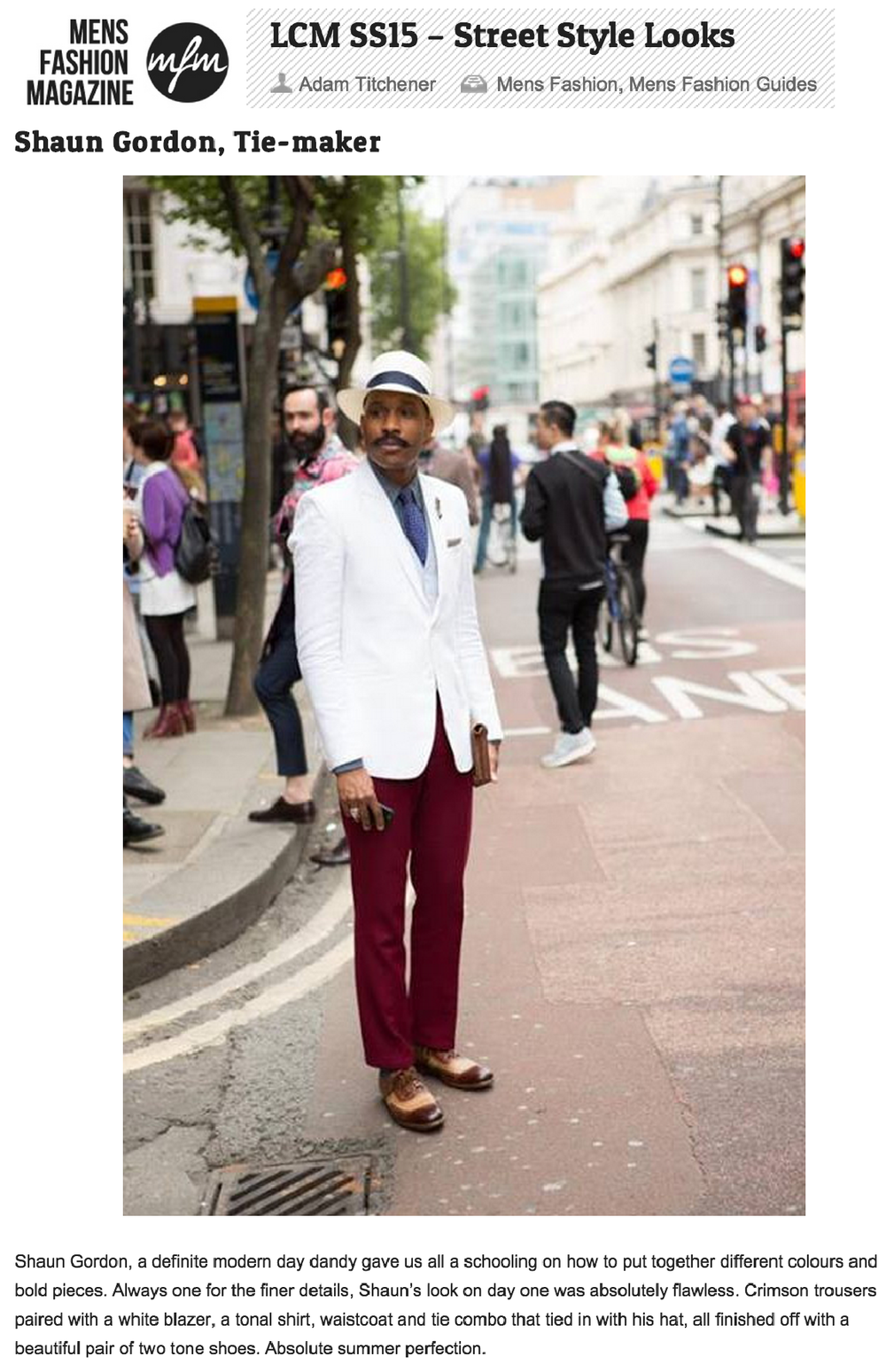 Mens Fashion Magazine Reviews Shaun Gordon's Style