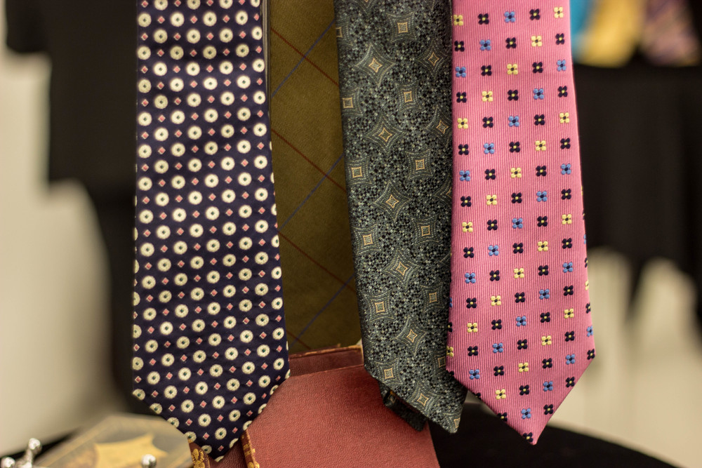 Shaun Gordon new collection presentsOscar, Taylor, Miles and Alastair ties(Left to right).