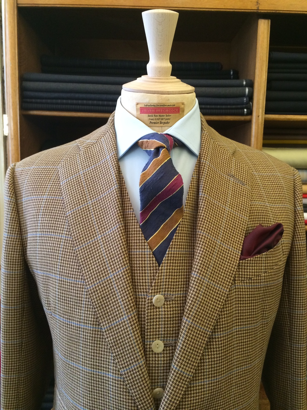 Steven Hitchcock window pane check bespoke jacket with the Leonard tie. Styling: Celia Williams