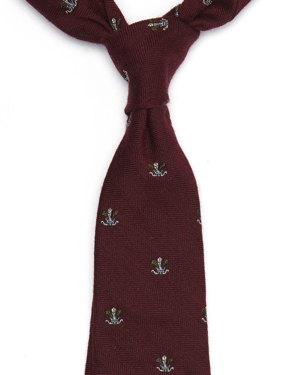 Harold Tie| Wool & Silk Crest Pattern | 5ExclusiveHandMade Ties Available- £98.00