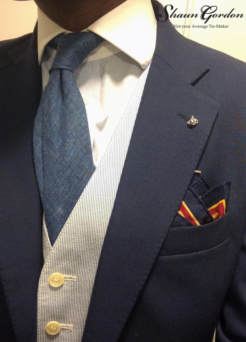 Bespoke Linen & wool tie.