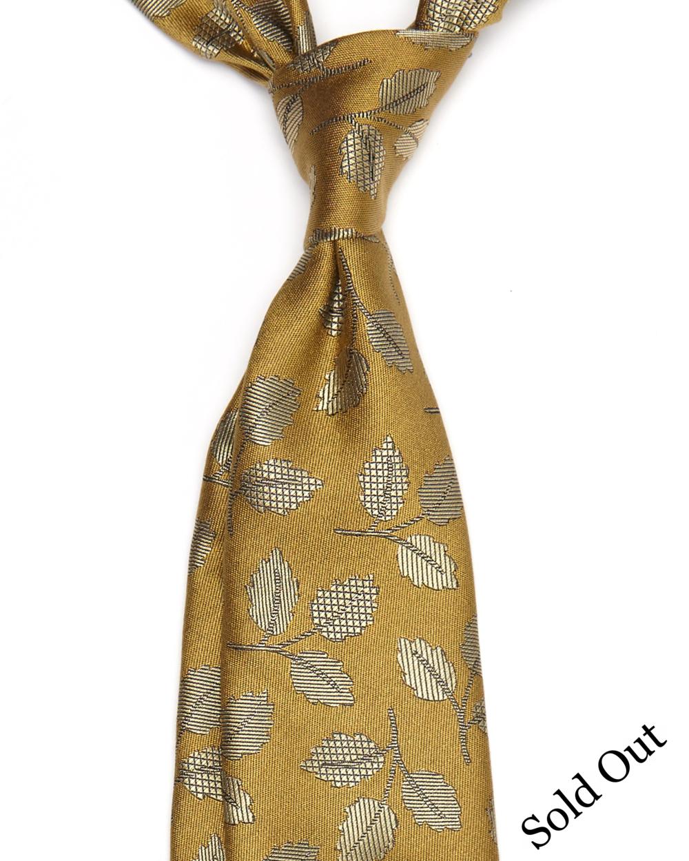 Hamilton Tie| Silk LeavesPattern | 6ExclusiveHandMade Ties Available- £98.00