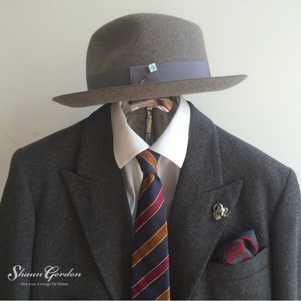 Grey Tone on Tone:What I like about tone on tone is that it allows you to use bolder colours, especially where your ties and pocket squares are concerned.