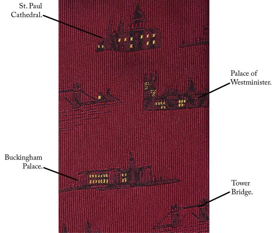 Names Of Landmarks on The Mr. London Tie.