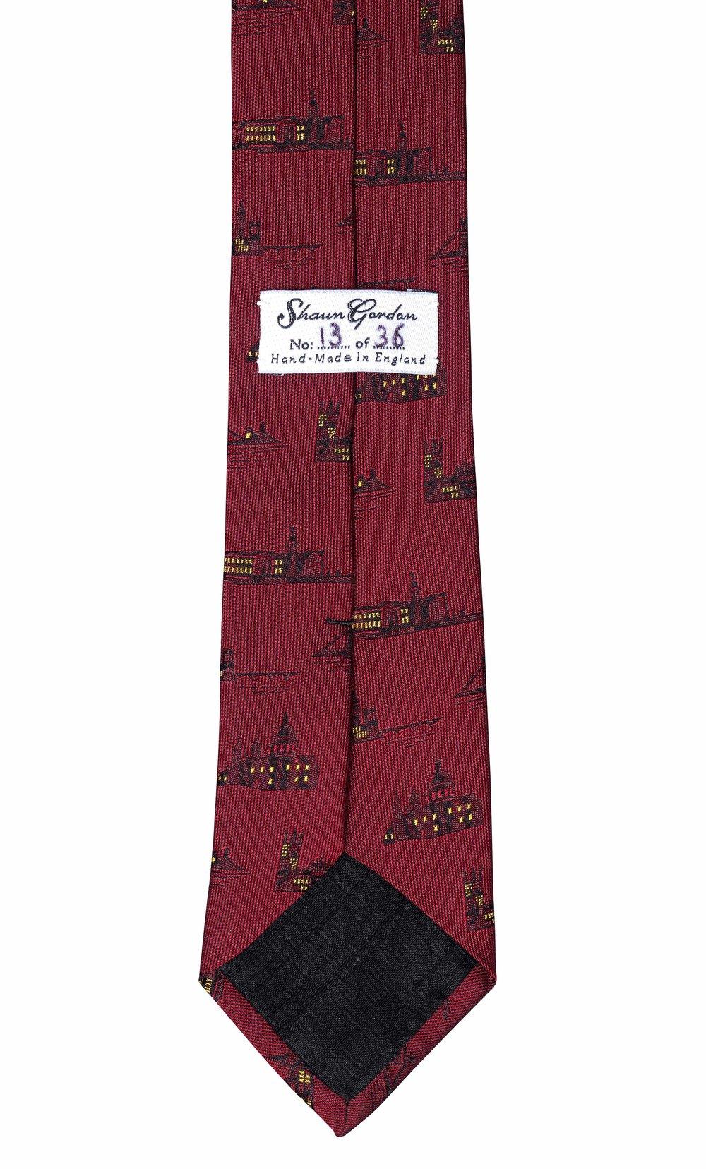 Back Of Mr. London Tie.