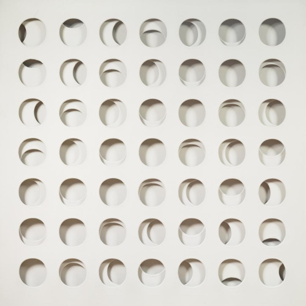 Paolo Scheggi, Intersuperficie curva bianca, 1966