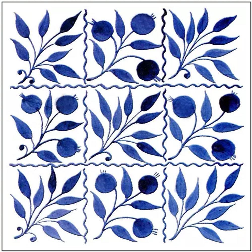 William Morris -De Morgan Nine-Square Bough