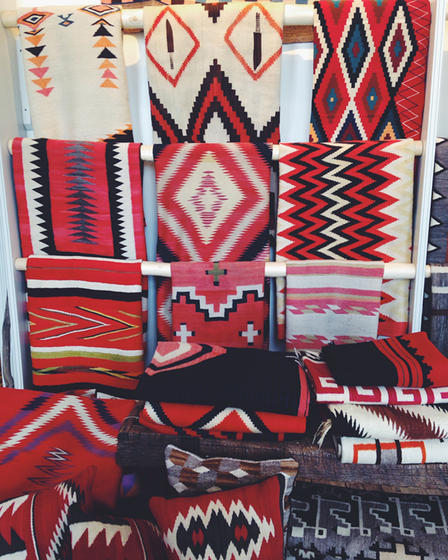 For me, I was more in awe of these works of art than any other painting or masterpiece I have seen at a museum or gallery. The patience, pattern building, dyed wool, and every hand woven inch gave me goose bumps.  I dream about these blankets.