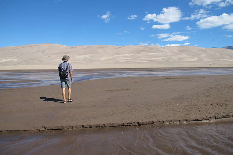 The dunes are incredible! It's such a trip that the largest sand dunes in North America are in the southwest corner of Colorado.