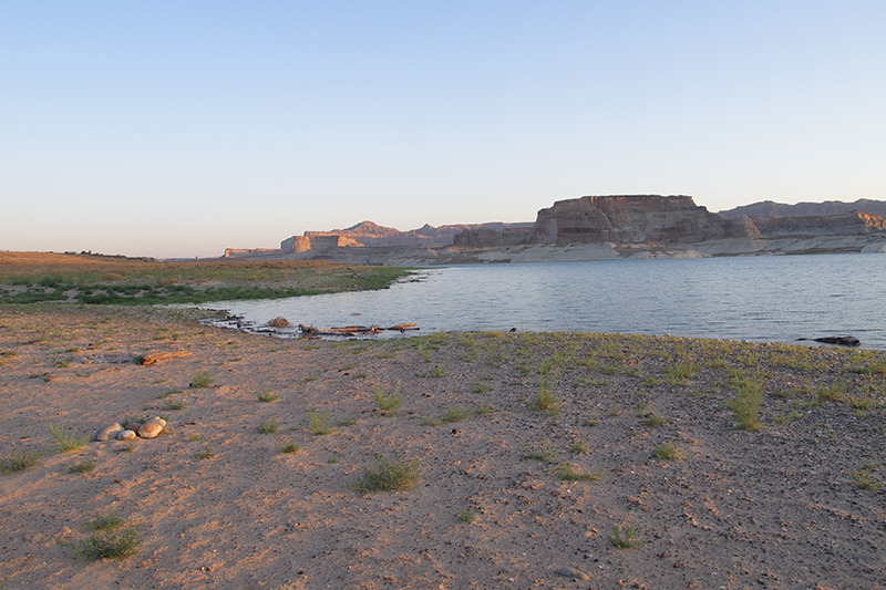 Lake Powell was really beautiful in the morning before all the boats flooded the lake and the lifted trucks came crashing over the sandy shore.