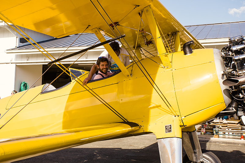 The day after the long airplane discussion, he called us up wanting to know if Adam had any interest in taking a ride in a Stearman because he had a buddy that was willing to take him up. I hadn't seen Adam this excited before!