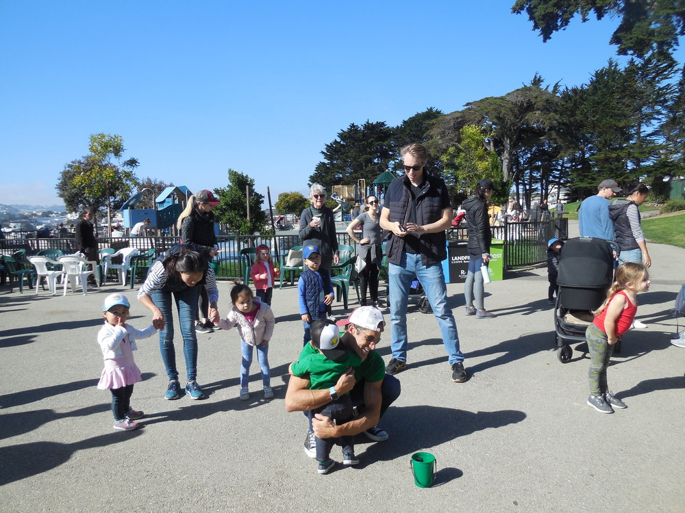 """Children dancing the """"Hokey Pokey"""""""